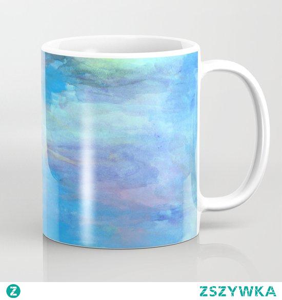 Kubek ze wzorem - niebieskie kolory  The mug with the pattern - blue colors