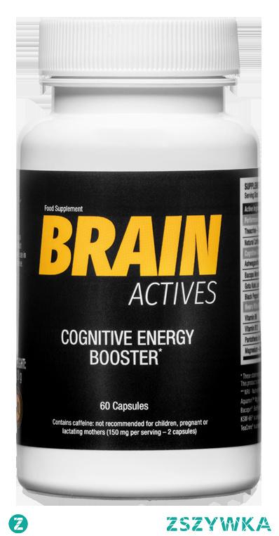 Brain Actives to wieloskładnikowy suplement diety wspierający organizm w trakcie wysiłku psychicznego i fizycznego. Produkt pomaga poprawić koncentrację, szybkość czasu reakcji oraz wytrzymałość nawet przy zadaniach, które wymagają ogromnego wysiłku i nakładów energii.