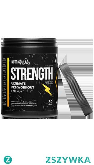 Nutrigo Lab Strength to jedyny tak skuteczny suplement poprawiający wytrzymałość nawet podczas największego wysiłku. Energetyzująca każde włókno w Twoim ciele formuła sprawi, że będziesz gotowy na największe wyzwania. Dzięki połączeniu aż 18 składników aktywnych stworzyliśmy suplement, który gwarantuje Ci osiągniecie szczytu własnych możliwości.