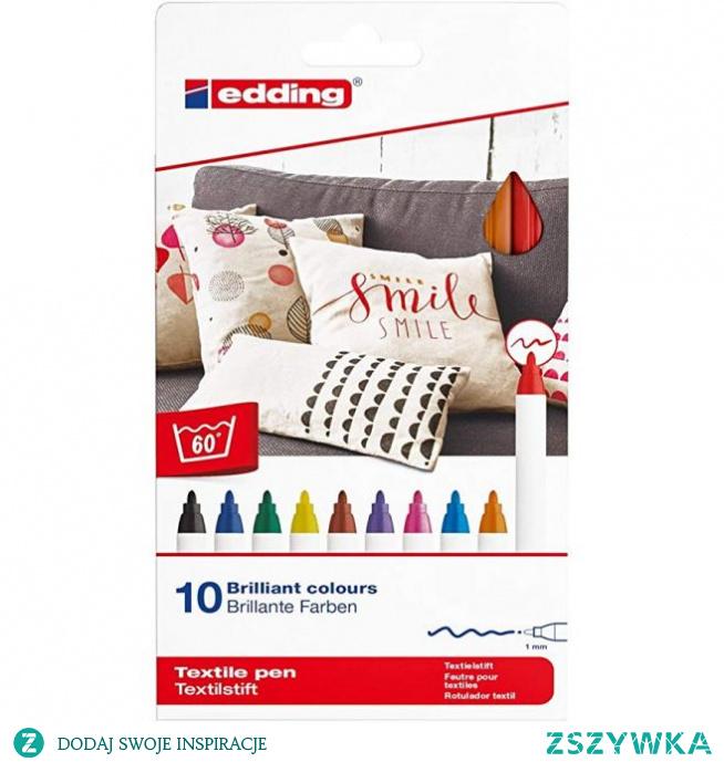 Pisaki do tkanin Edding - 10 kolorów