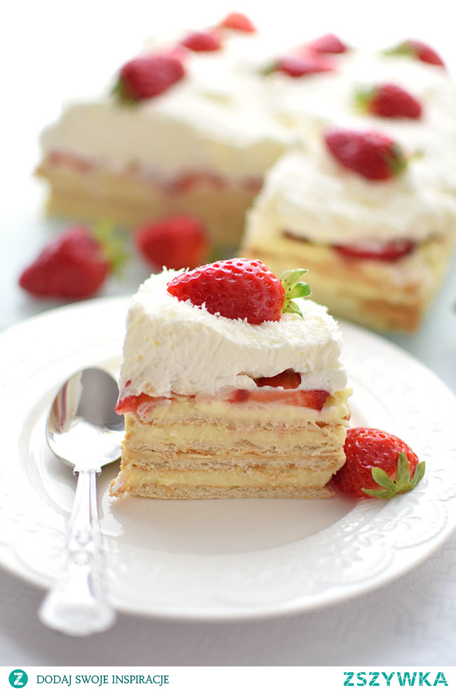 Ciasto rafaello z truskawkami - BEZ pieczenia