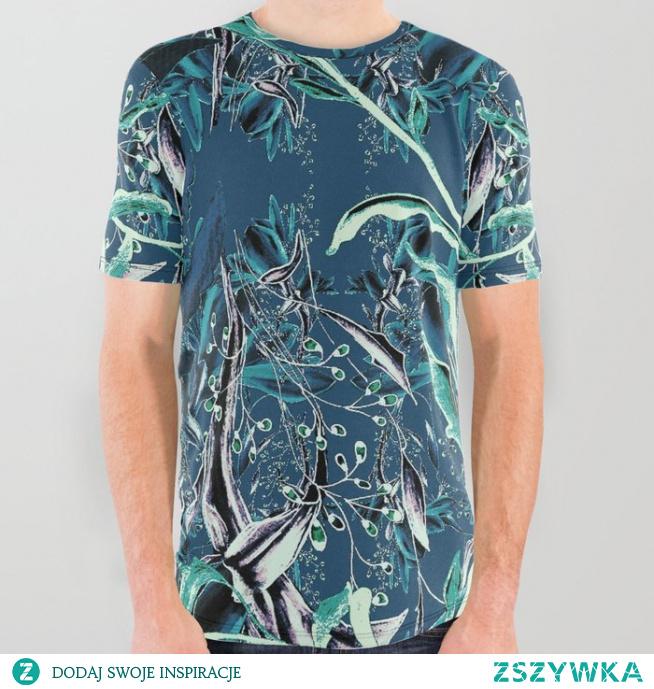 Koszulka ze wzorem Kwiatowa fantazja 3  Flower fantasy 3 All Over Graphic Tee