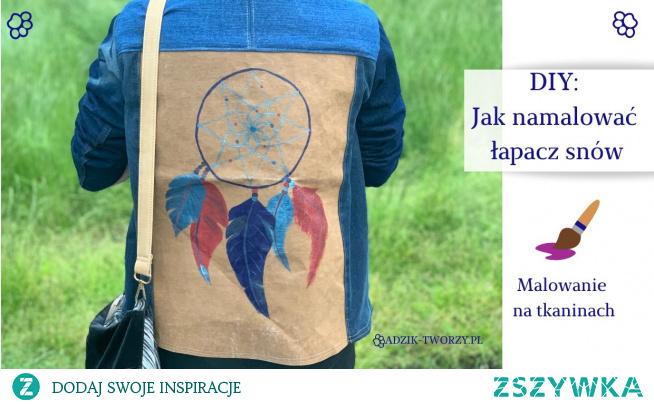 Jak namalować własnoręcznie łapacz snów na ubraniu?  Złap za farby (lub markery) do tkanin i sprawdź instrukcje!  KLIKnij w zdjęcie lub zajrzyj na blog DIY Adzik-tworzy.pl