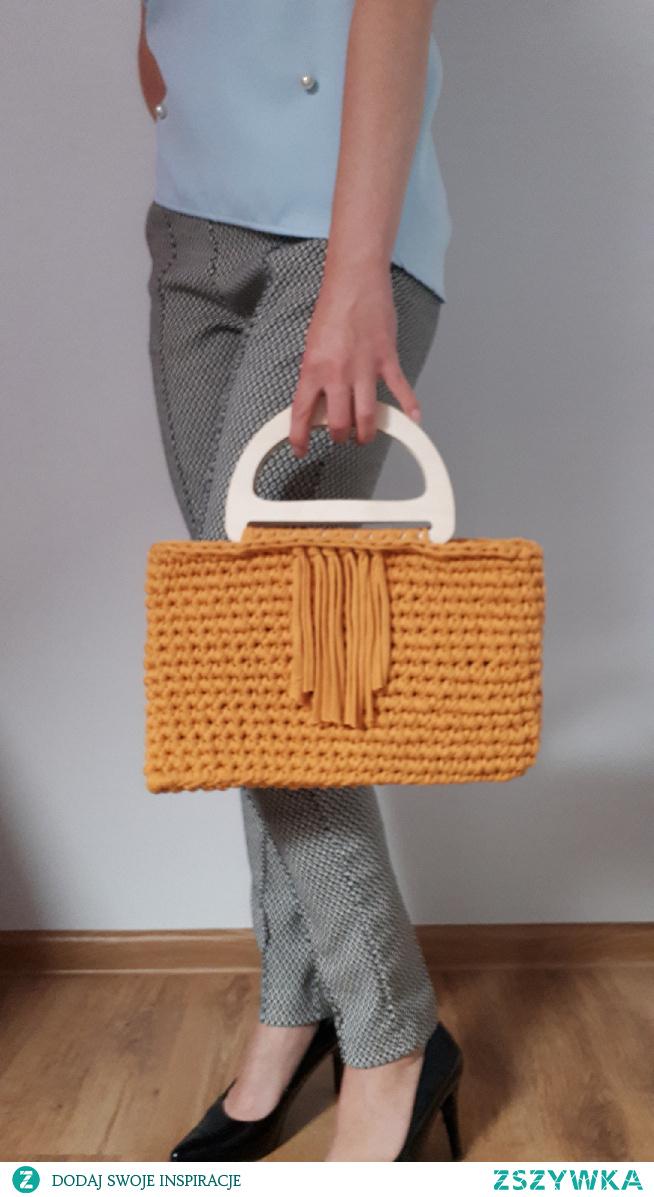 torebka do ręki na szydelku