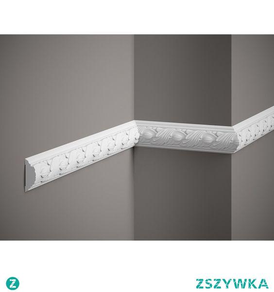 Listwa ścienna elastyczna Mardom Decor MDC258F jest świetnym elementem dekoracyjnym tworząc unikatową atmosferę, która zdecydowanie podniesie artyzm projektowanych wnętrz. Listwę zdobioną można połączyć z narożnikiem MDC258-12 tworząc na ścianie spektakularną klasyczną dekorację ściany w formie obrazu czy panelu. Rewelacyjnie gdy sztukaterię pomalujemy w innym kolorze niż ściana.