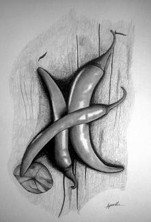 Papryczka na ostro ^^ rysowane ołówkiem.
