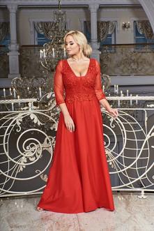 Czerwona wieczorowa suknia ...