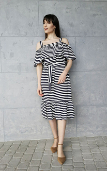 Czarno-Biała Sukienka Typu ...