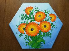 Obraz ręcznie malowany arba...