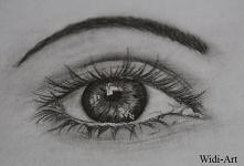 Oko - technika ołówkowa