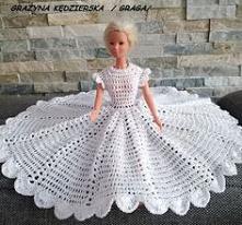 Szydełkowe ubranka dla Barbie