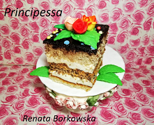 Ciasto  Principessa  Najlepiej   zacząć   od  bezy  , można  ją  upiec  dzień wcześniej .       BEZA   4-  białka  1-szkl. cukru  150 gr.  -mielonych   migdałów  4  szt.  batonó...