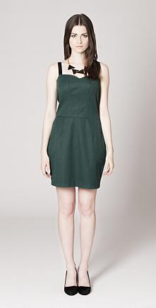 Sukienka w zieleni butelkow...