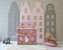 domki,tablice,panele ścienne w pokoju dziecięcym