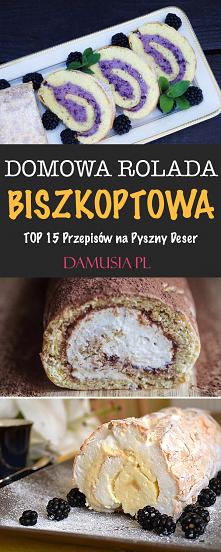 Domowa Rolada Biszkoptowa – TOP 15 Przepisów na Pyszny Deser #deser #rolada