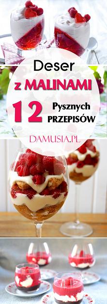 DESER MALINOWY: TOP 12 Najlepszych Przepisów na Pyszny Deser z Malinami #pomysły #maliny