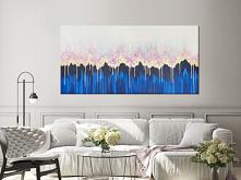 """Abstrakcyjny obraz do salonu """"Enchanted III"""" (""""Zaczarowany III""""). Oryginalny, ręcznie malowany obraz akrylowy. Jest to trzeci obraz z serii """"Enchanted"""". W przeciwieństwie do pie..."""