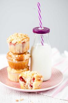#Muffinki #z truskawkami