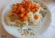 Spaghetti domowe na czerwon...