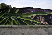 Mural autorstwa Sylwestra Ł...