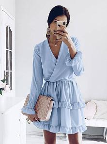 pakuten #sukienka #błękitna...