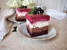 Ciasto z czarnymi porzeczka...