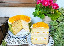Tort budyniowy z brzoskwini...