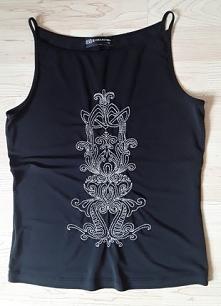 Top czarny haftowany rozmia...