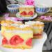 Ciasto kruche z truskawkami i budyniem. Uwielbiam również wersje z rabarbarem, to takie dyżurne ciasto sezonowe w moim domu.