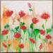 Maki. Obraz 50 x 50 cm, ręcznie malowany farbami akrylowymi na płótnie. Na sprzedaż.