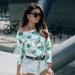 Bawełniana damska bluza w tropikalne liście by Illuminate.pl <3