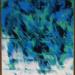 Obraz akrylem, 40 x 60 cm, kolorystyka morska, sztorm na morzu. Na sprzedaż