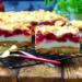 Ciasto z pianką budyniową i wiśniami