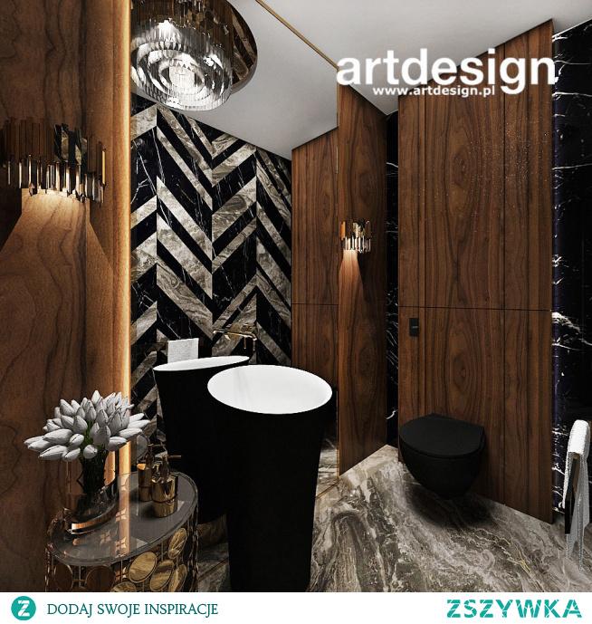 Elegancka i oryginalna łazienka gościnna | AESTHETIC PLEASURE | Wnętrza domu