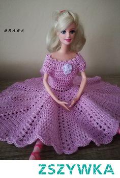 Szydełkowe kreacje dla Barbie