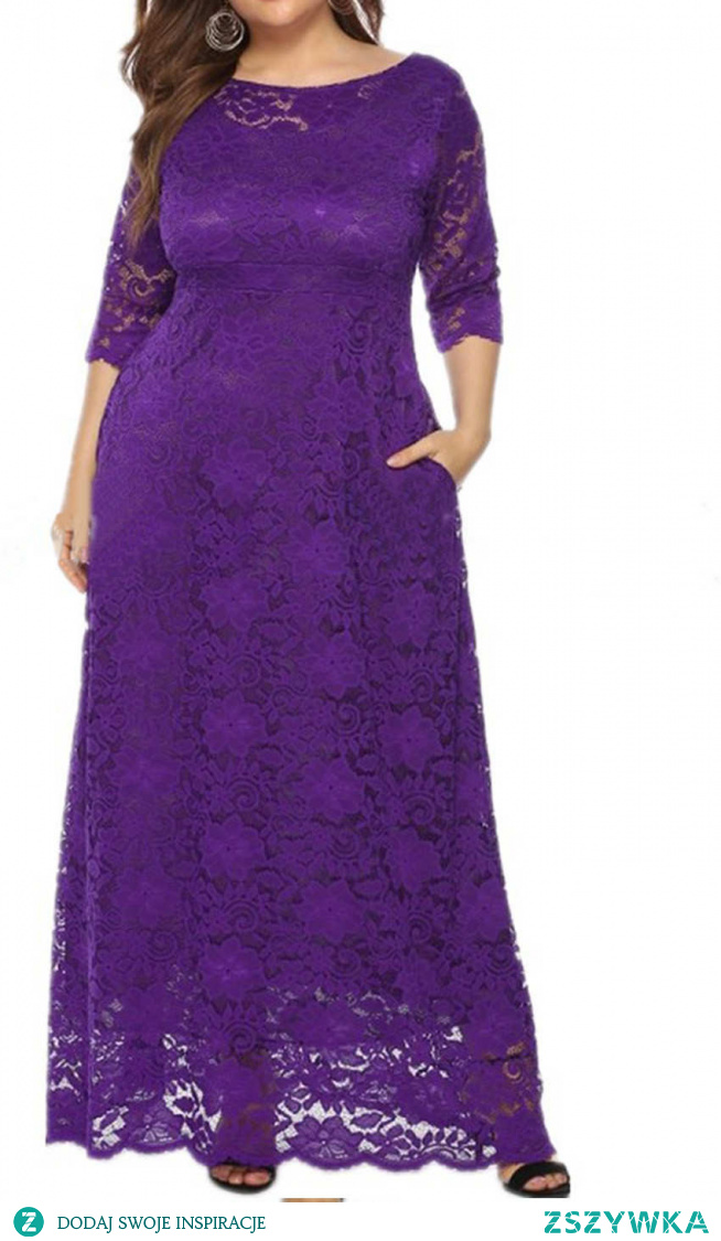 This long purple bridesmaid dresses with empire waist to create perfect body ratio. A-line silhouette and sheer lace half sleeves are helpful to cover fat; Pocket is very useful when photoing. No matter what your size is, free color and size custom service help you to get fitted dress easily.