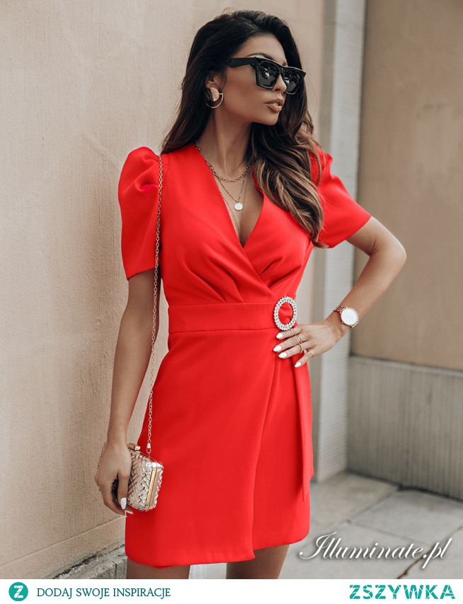 Czerwona sukienka na wesele CINDY Illuminate.pl
