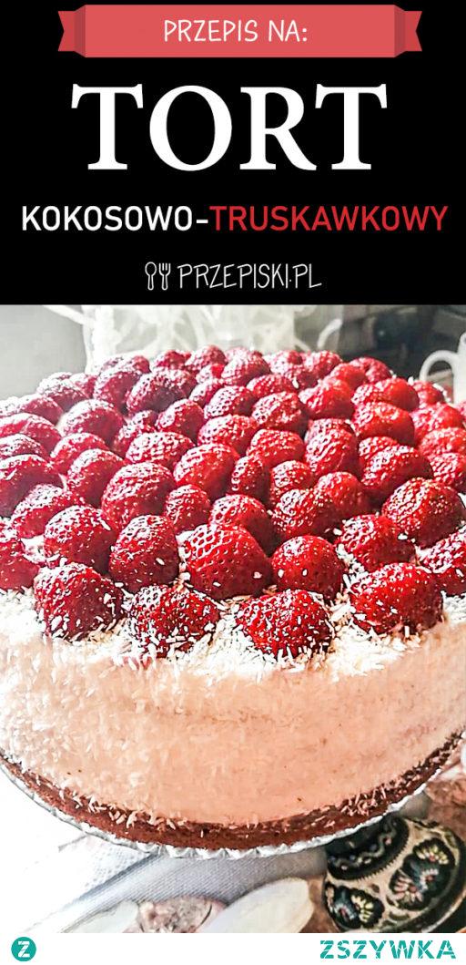 Tort Kokosowo – Truskawkowy