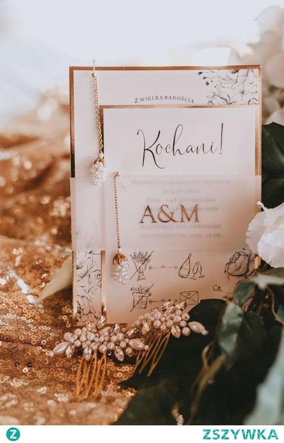 Zaproszenia ślubne - Rose & Gold papiro.pl