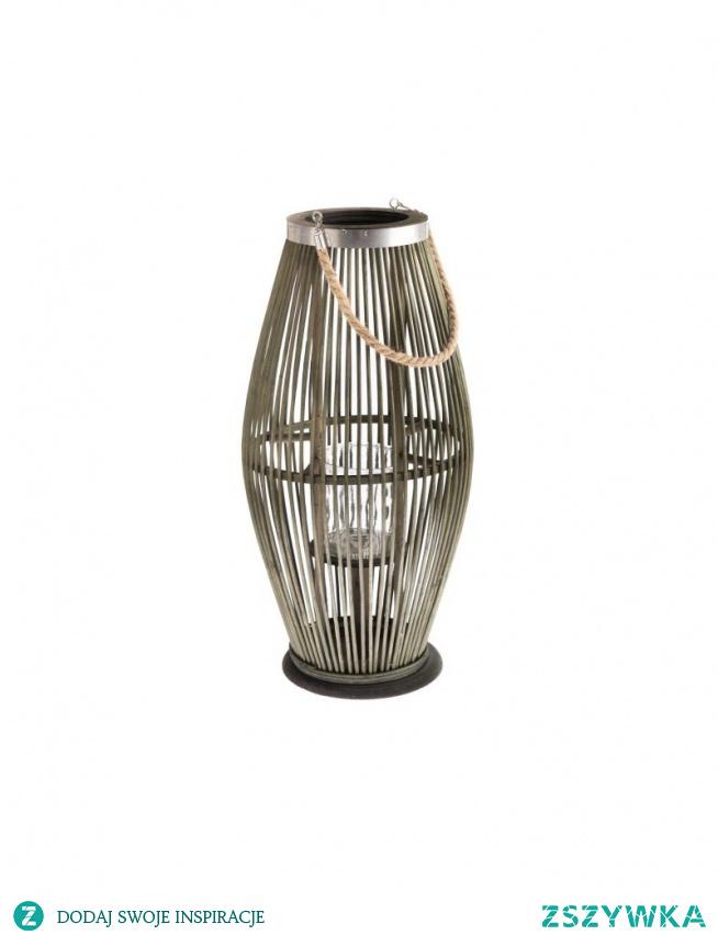 Lampion bambusowy w kolorze zielonym na balon, taras do ogrodu.