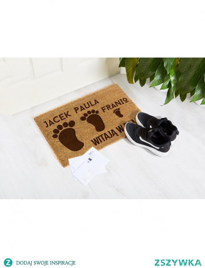 Wyjątkowa wycieraczka przed dom! Idealna jako prezent - wycieraczka personalizowana z Twoim napisem!