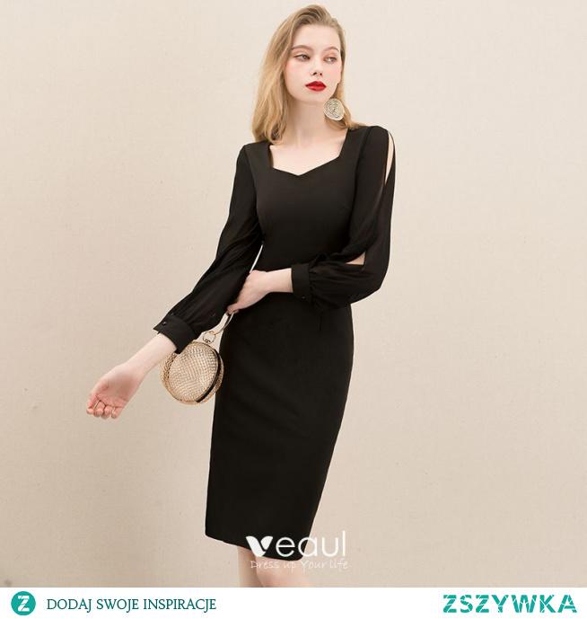 Proste / Simple Czarne Homecoming Sukienki Na Studniówke 2020