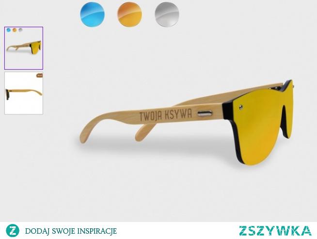 Okulary przeciwsłoneczne drewniane z nadrukiem - HIT 2020