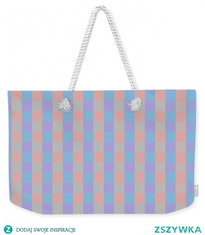 Piękna torba w pastelowe kwadraty. Cena 39,50 $