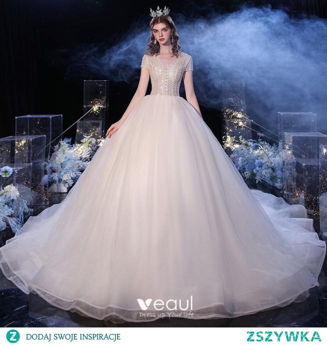 Moda Szampan ślubna Suknie Ślubne 2020