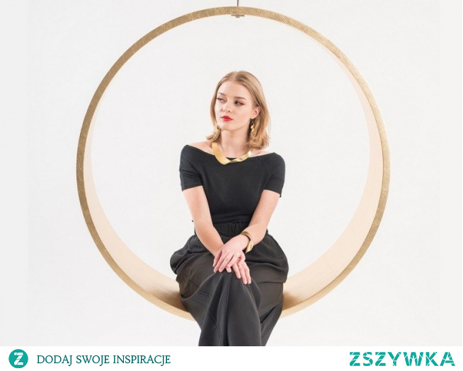 Iwona Kosicka Design SWING N.2 | Gold leaf armchair