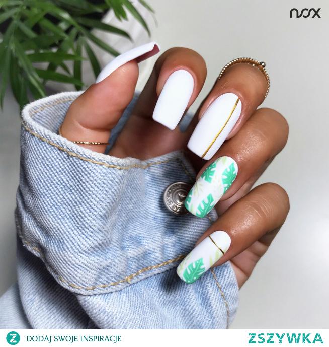 Paznokcie z motywem liści, to niezawodna propozycja na letni manicure!