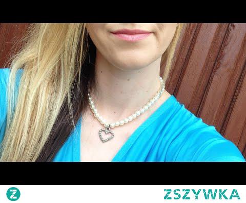 DIY naszyjnik z perełkami i zawieszką sercem