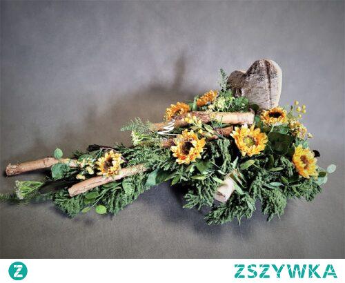 Nowoczesna wiązanka na cmentarz od totaldeco.pl