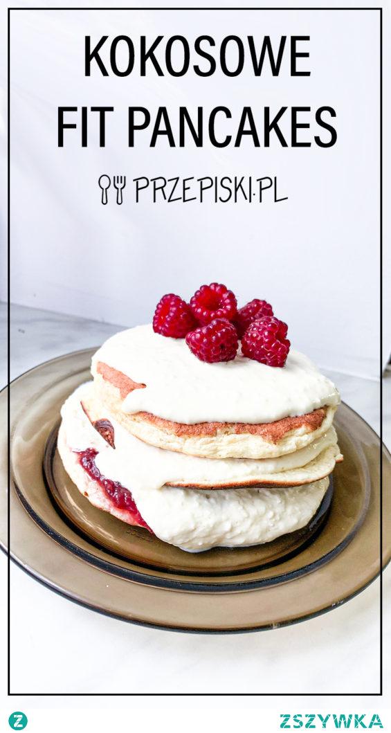 Puszyste Kokosowe FIT Pancakes#przepisy#śniadanie